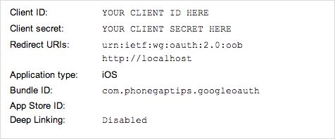 PhoneGap Tips - Google API OAuth with PhoneGap's InAppBrowser